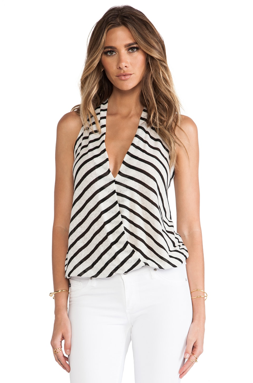 Ella Moss Seaside Drape Tank in Black