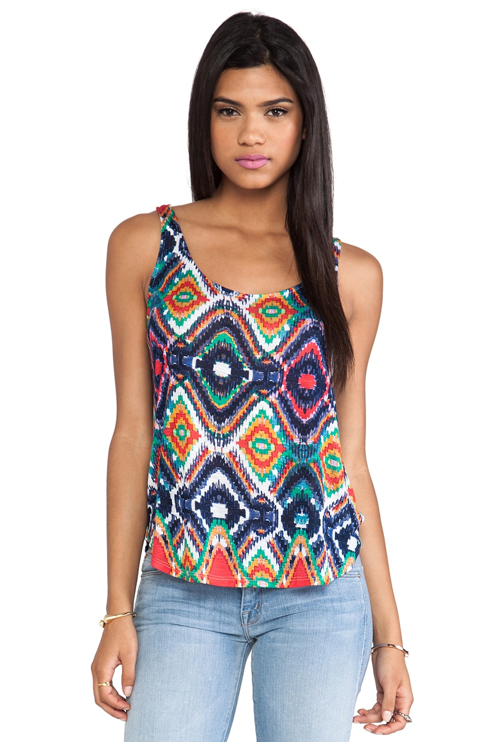 Ella Moss Totem Tank in Sunset