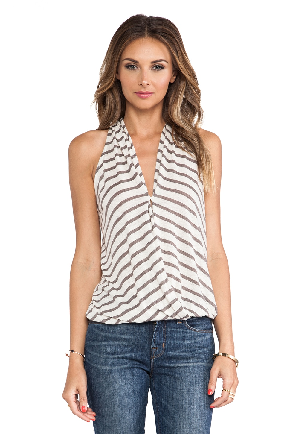 Ella Moss Seaside Drape Tank in Sequoia