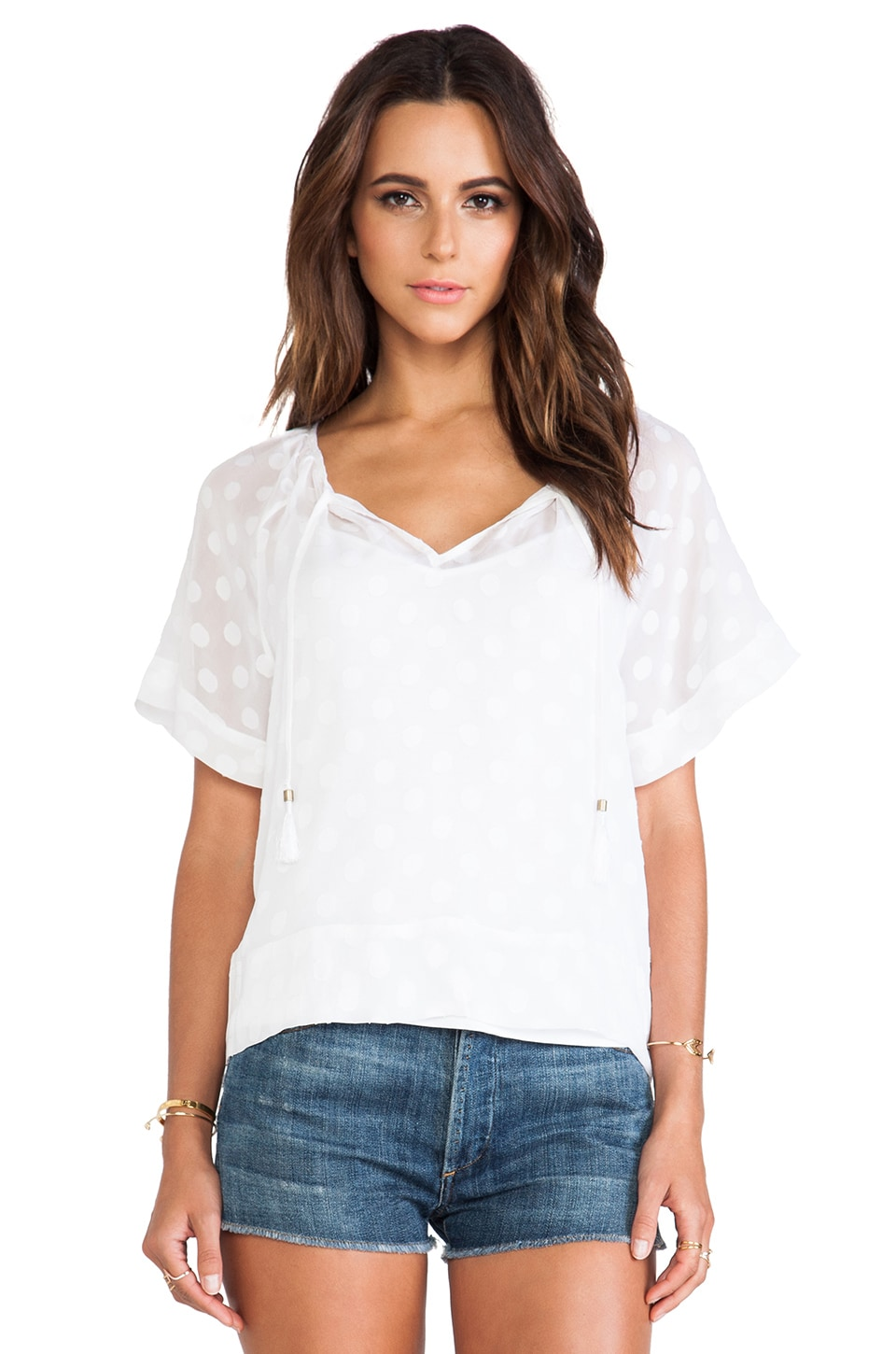 Ella Moss Sabine Top in White