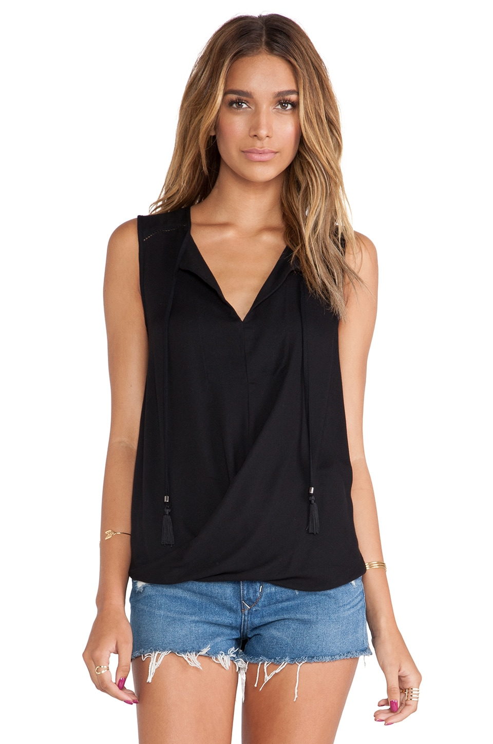 Ella Moss Stella Tank in Black