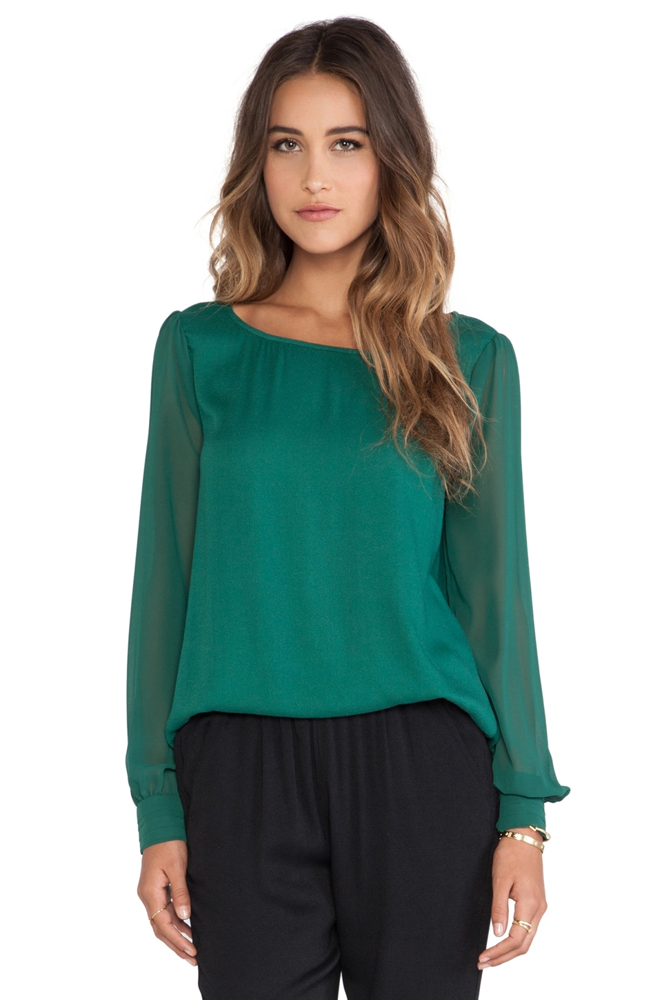 Ella Moss Stella Blouse in Hunter