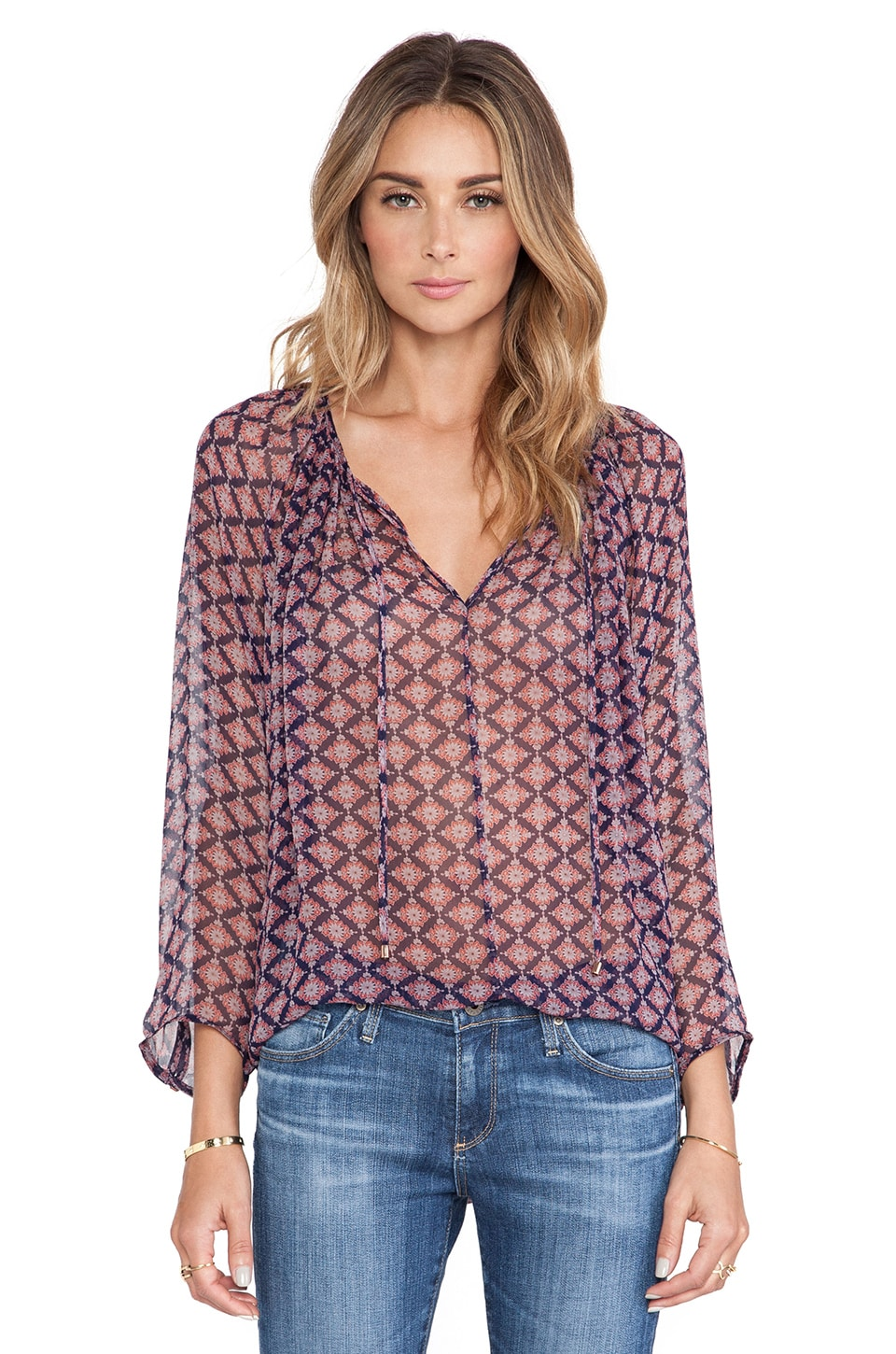 Ella Moss Marigold Blouse in Navy