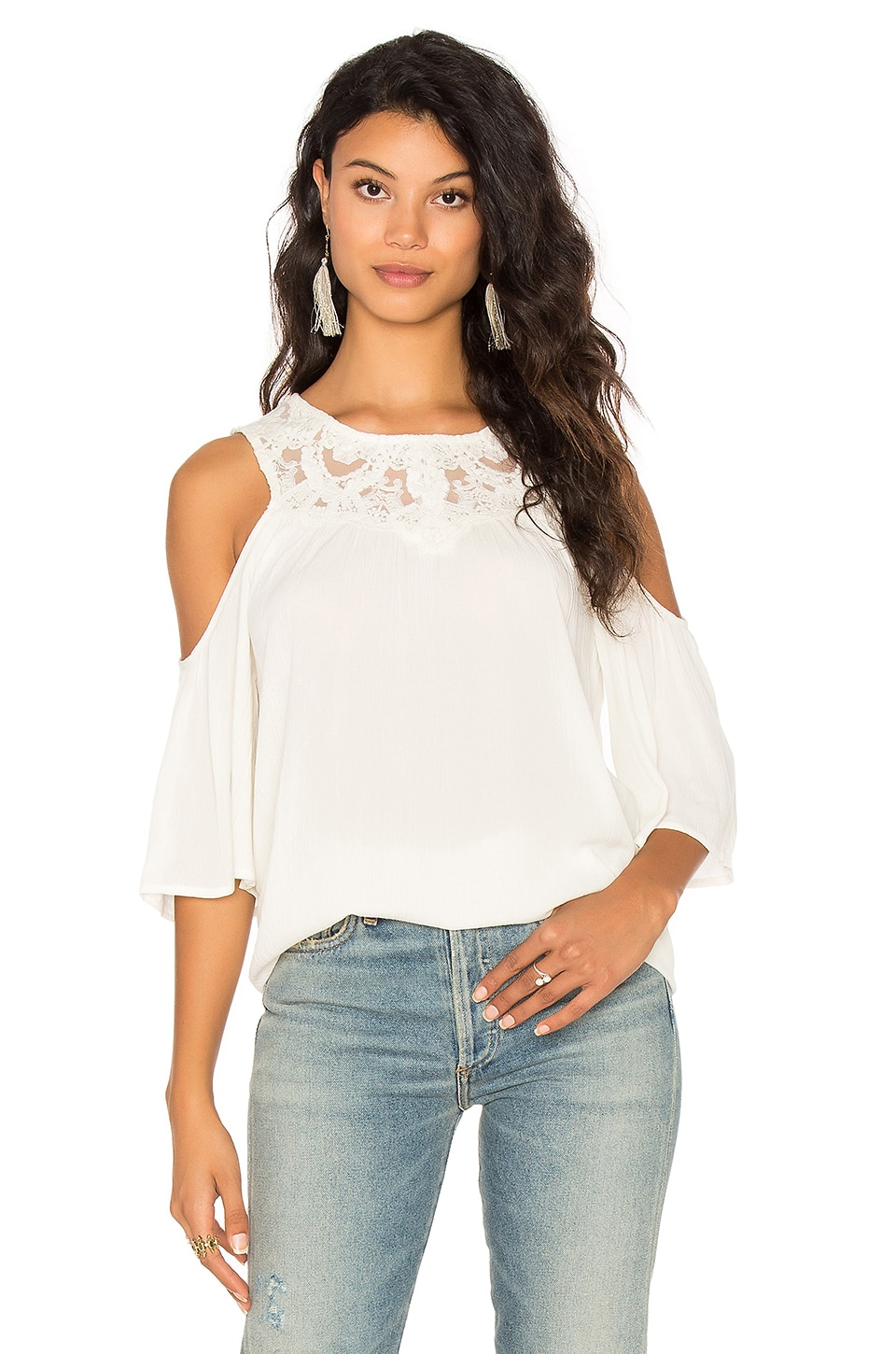 Olivier Cold Shoulder Top by Ella Moss