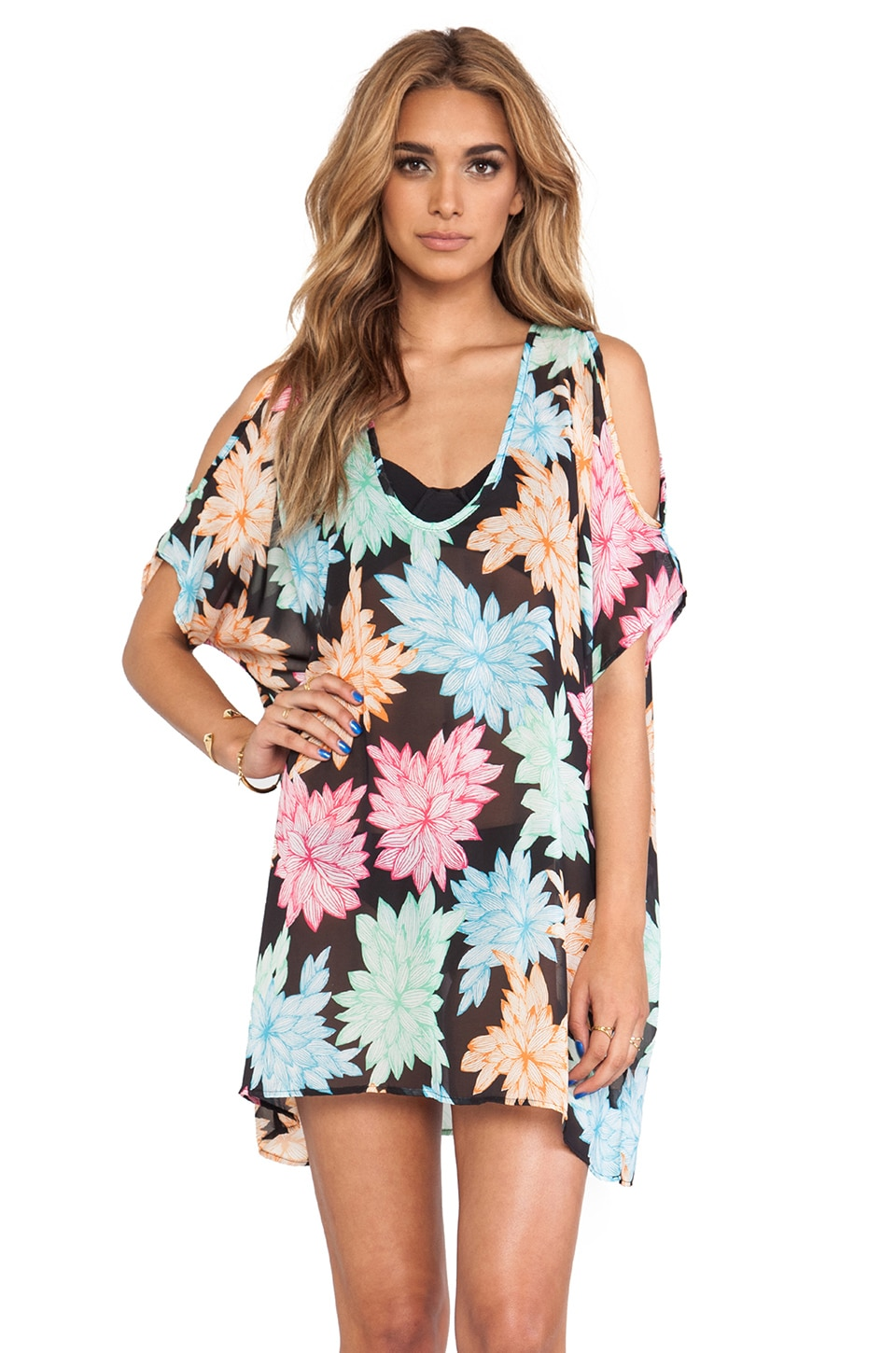 Ella Moss Belle Floral Tunic Cover Up in Multi