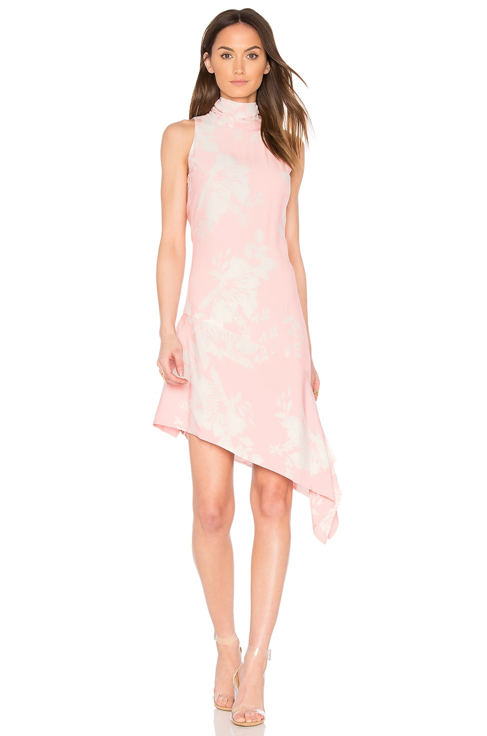 ELLIATT Enchanted Sleeveless Dress in Dusk Pink Floral