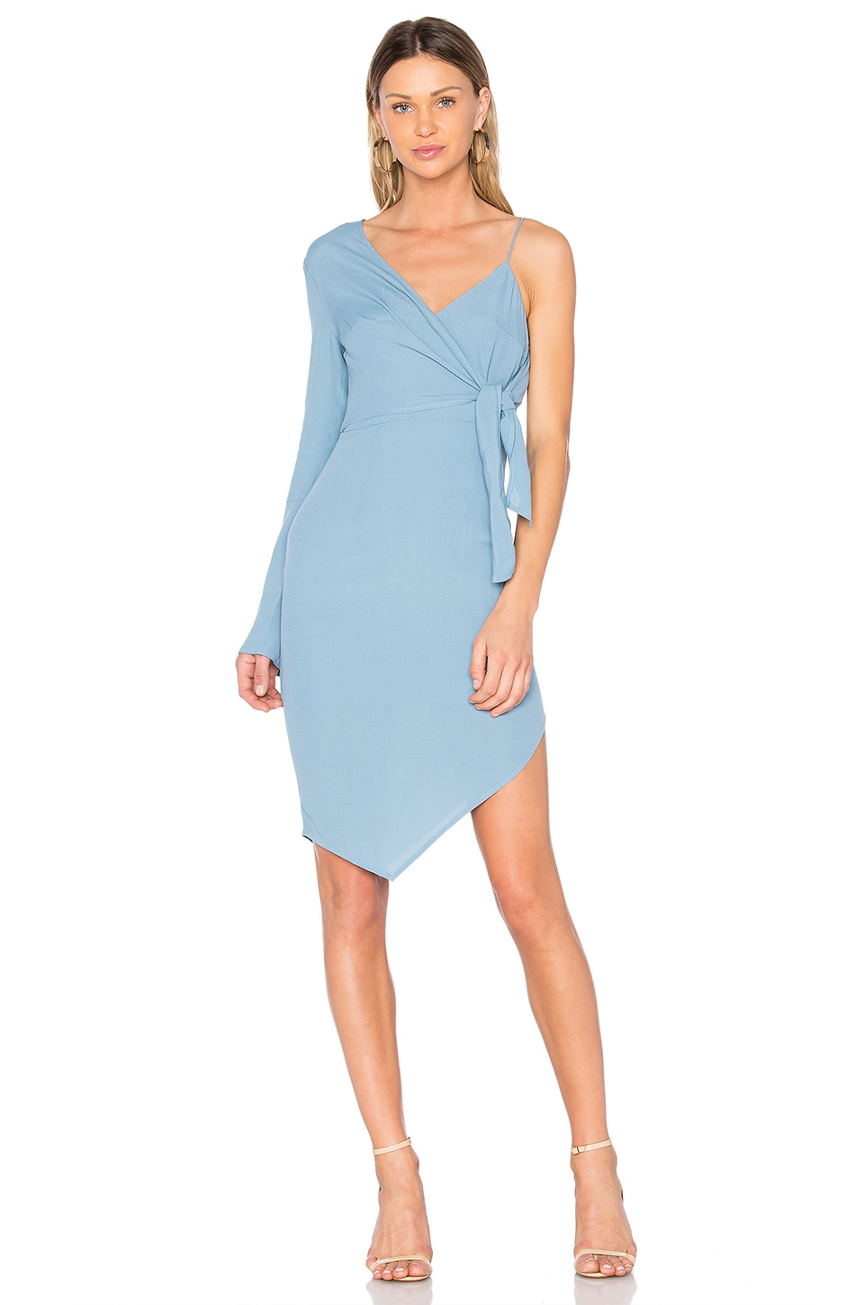 ELLIATT Rapture Mono Sleeve Dress in Steel Blue