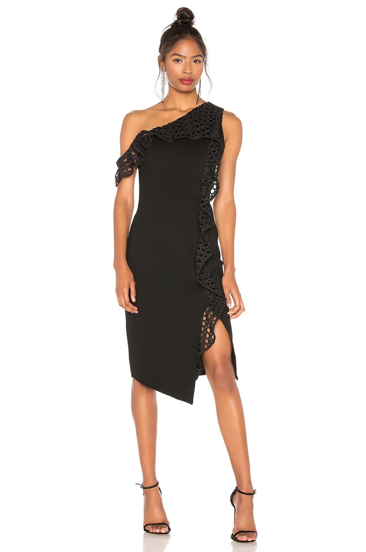ELLIATT Crystal Dress in Black