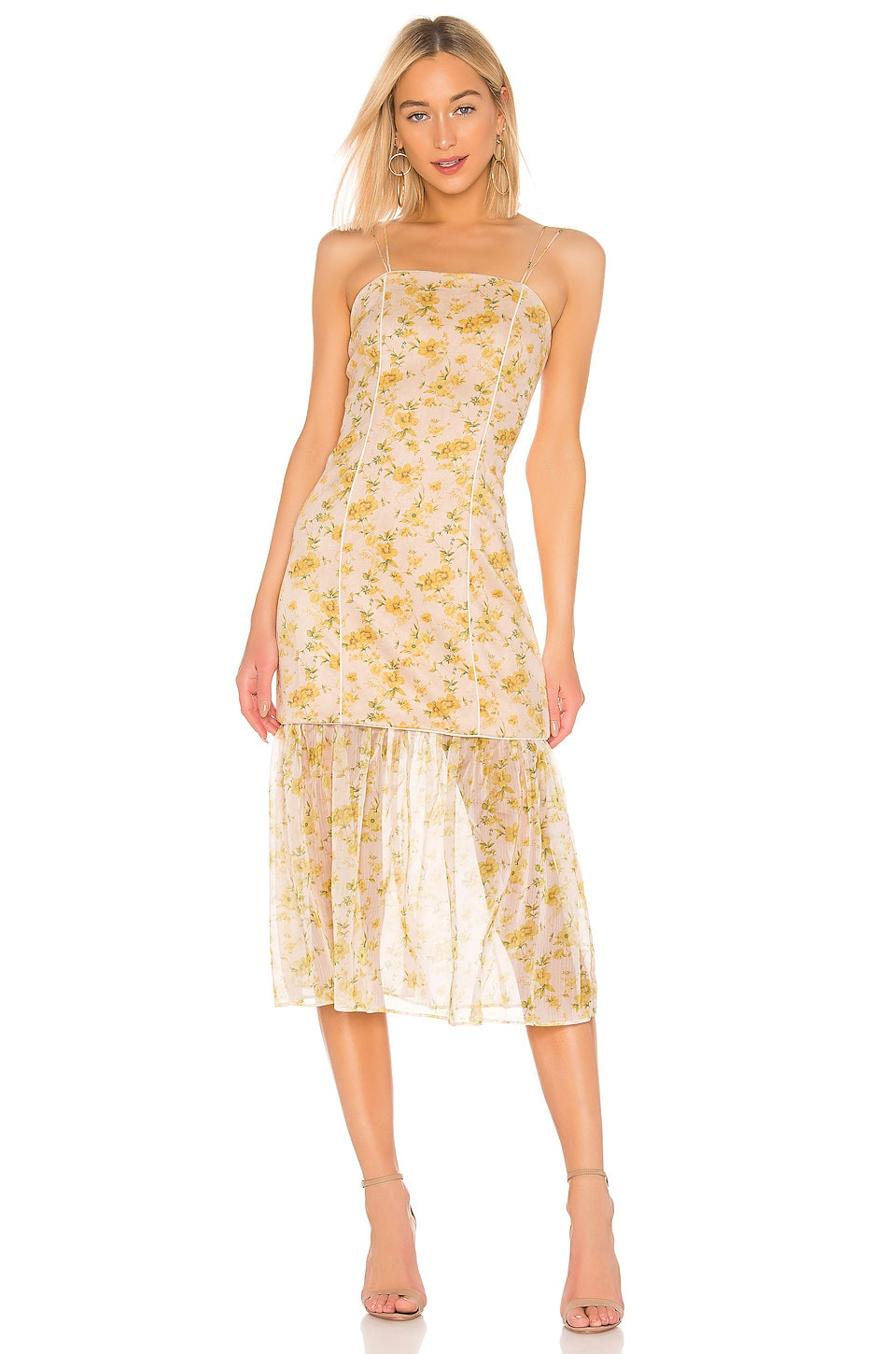 ELLIATT Wattle Detachable Skirt Dress in Yellow