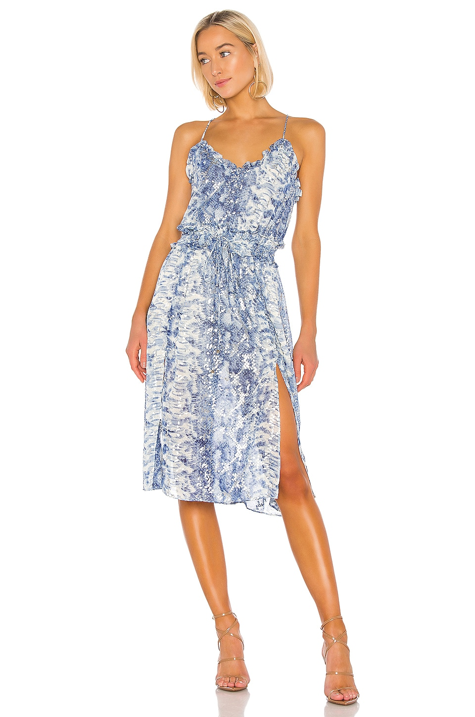 ELLIATT Collection Dress in Blue & Silver