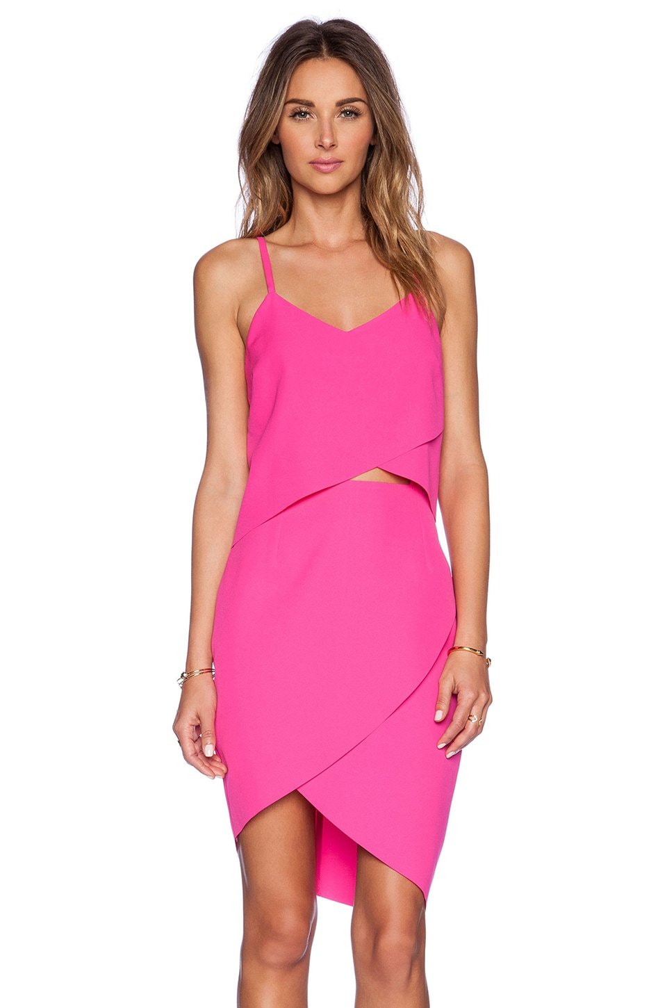 ELLIATT The Shot Tulip Dress in Fuschia Pink