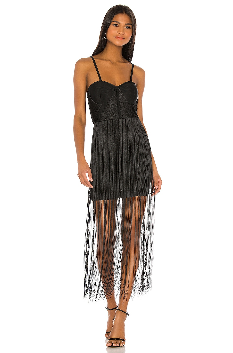 ELLIATT Mariana Fringe Dress in Black