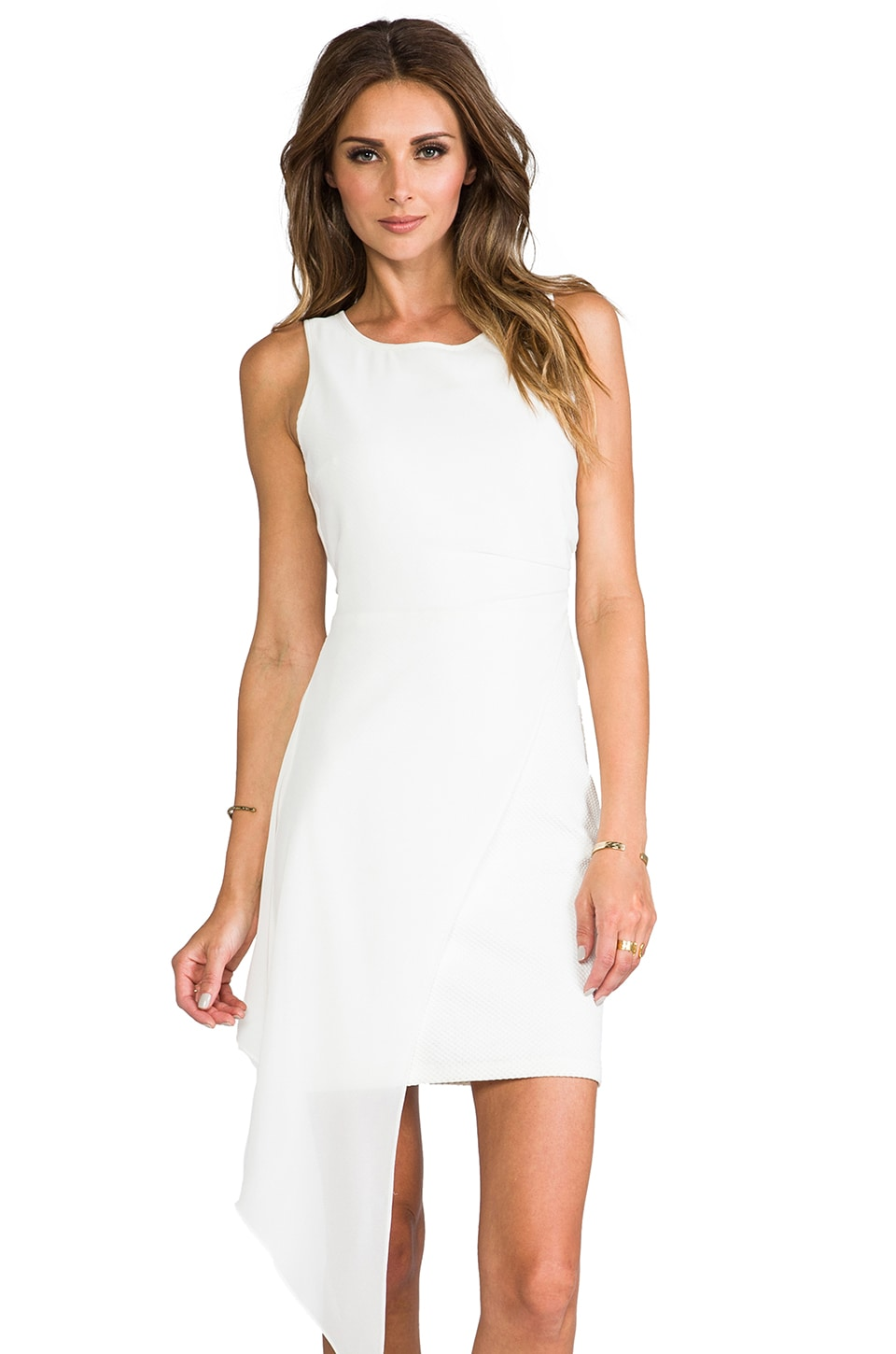 ELLIATT Sweepsteaker Dress in White