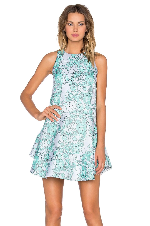 ELLIATT Away Dress in Emerald Floral