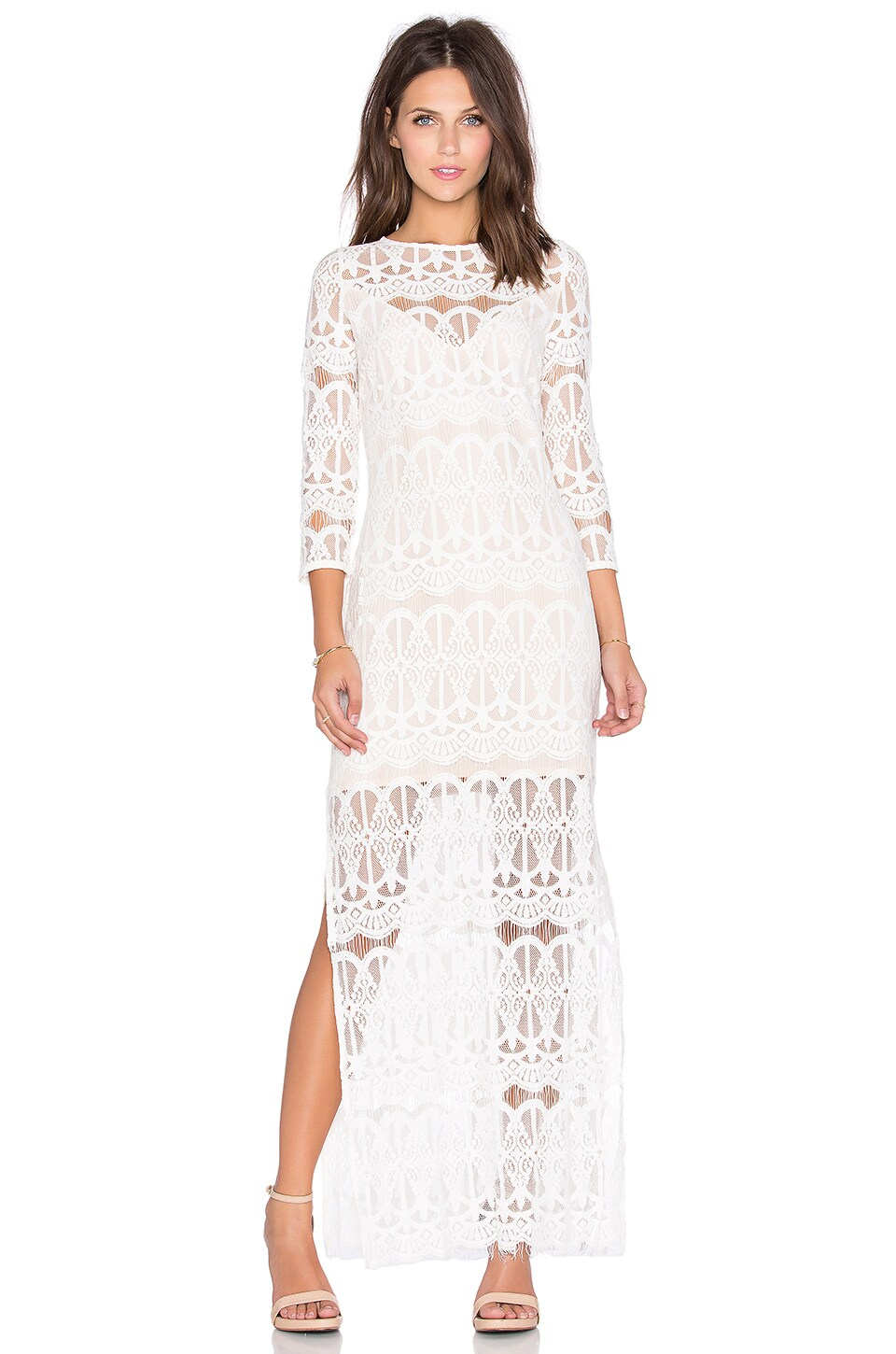 ELLIATT Plazza Maxi Dress in White