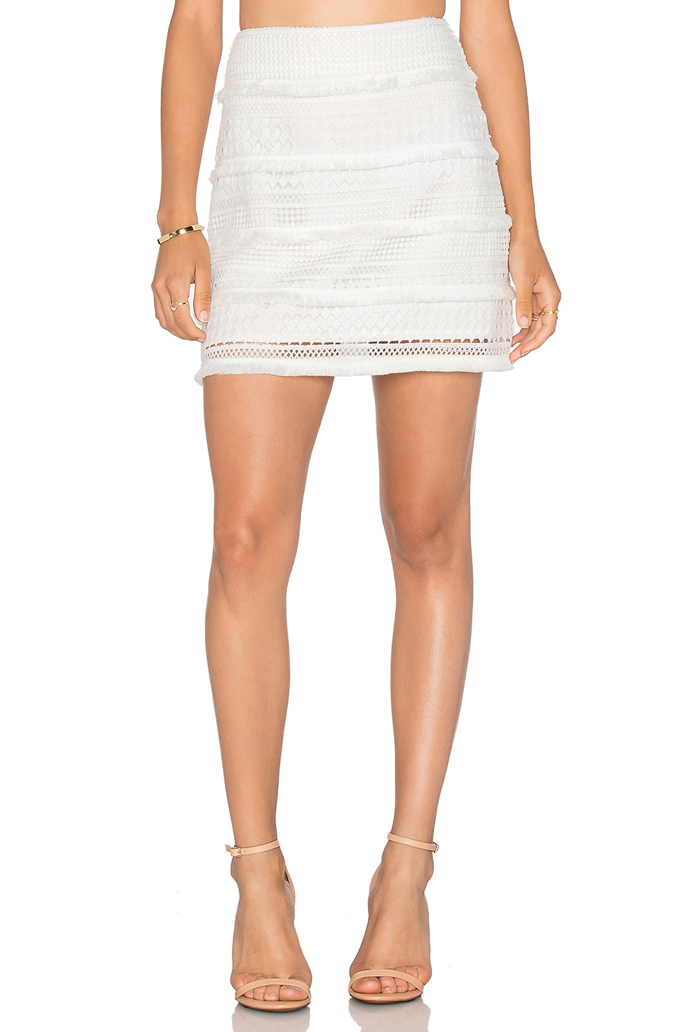 ELLIATT Canvas Skirt in White
