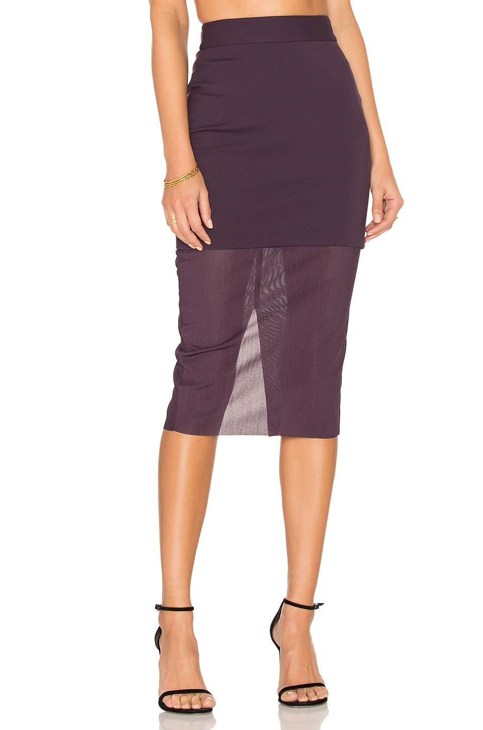 ELLIATT Allure Skirt in Plum