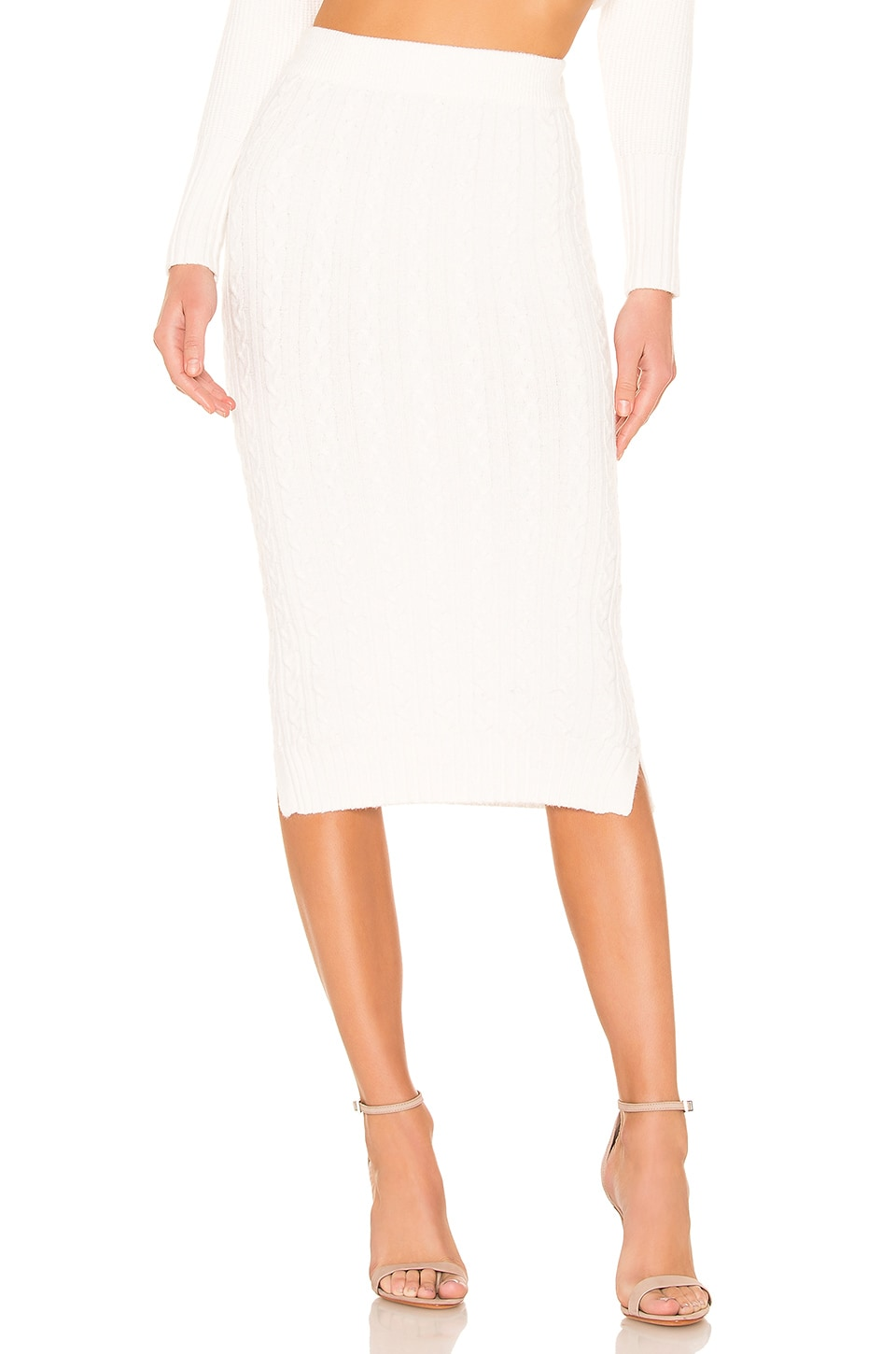 ELLIATT Oasis Knit Skirt in Ivory