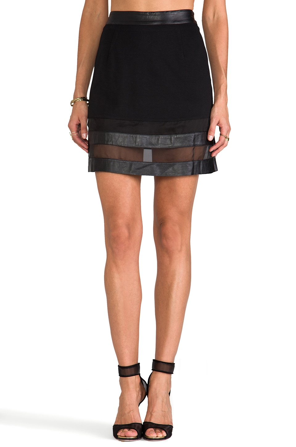 ELLIATT The Pursuit Skirt in Black