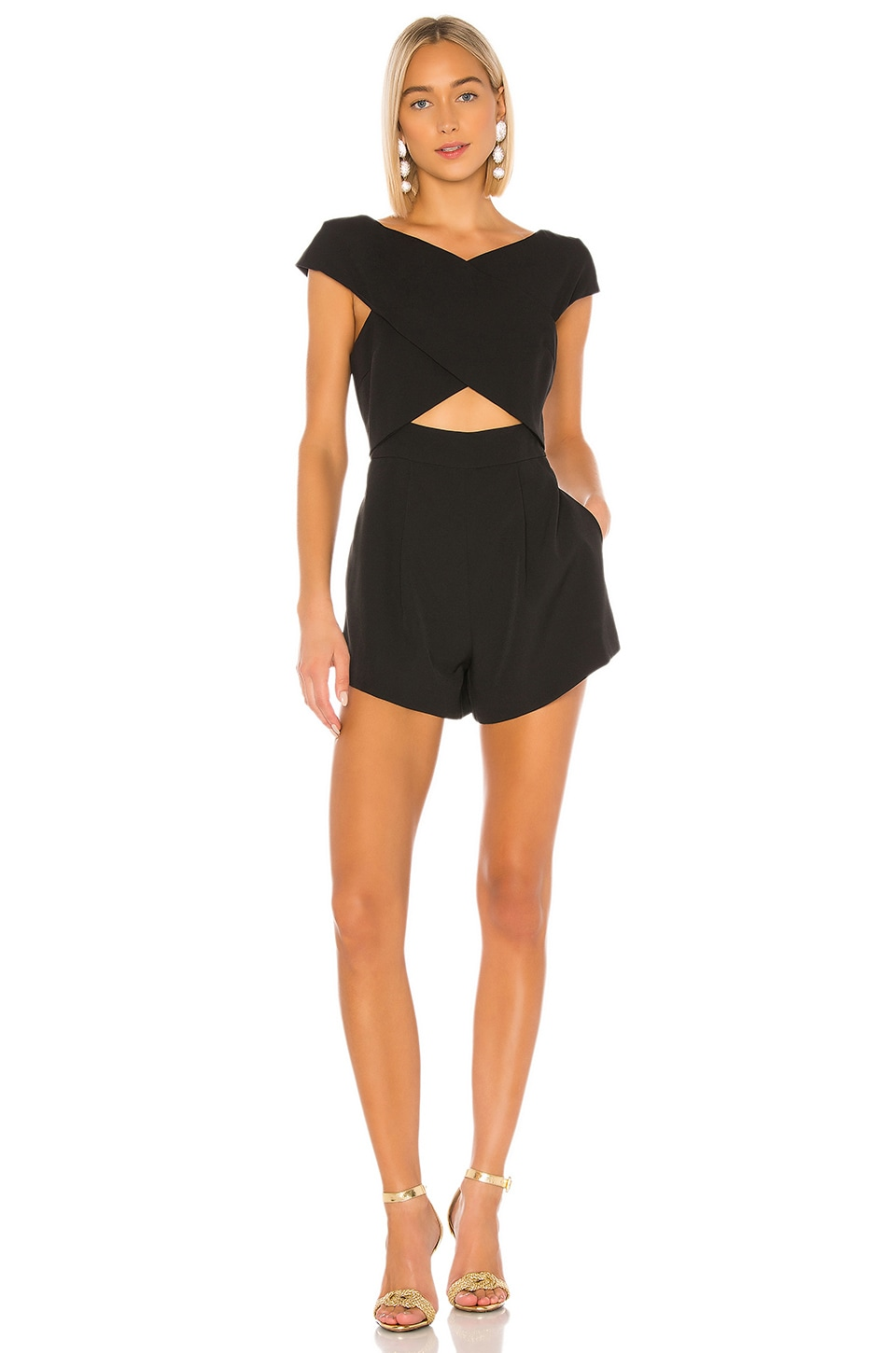 ELLIATT X REVOLVE Sorrento Playsuit in Black