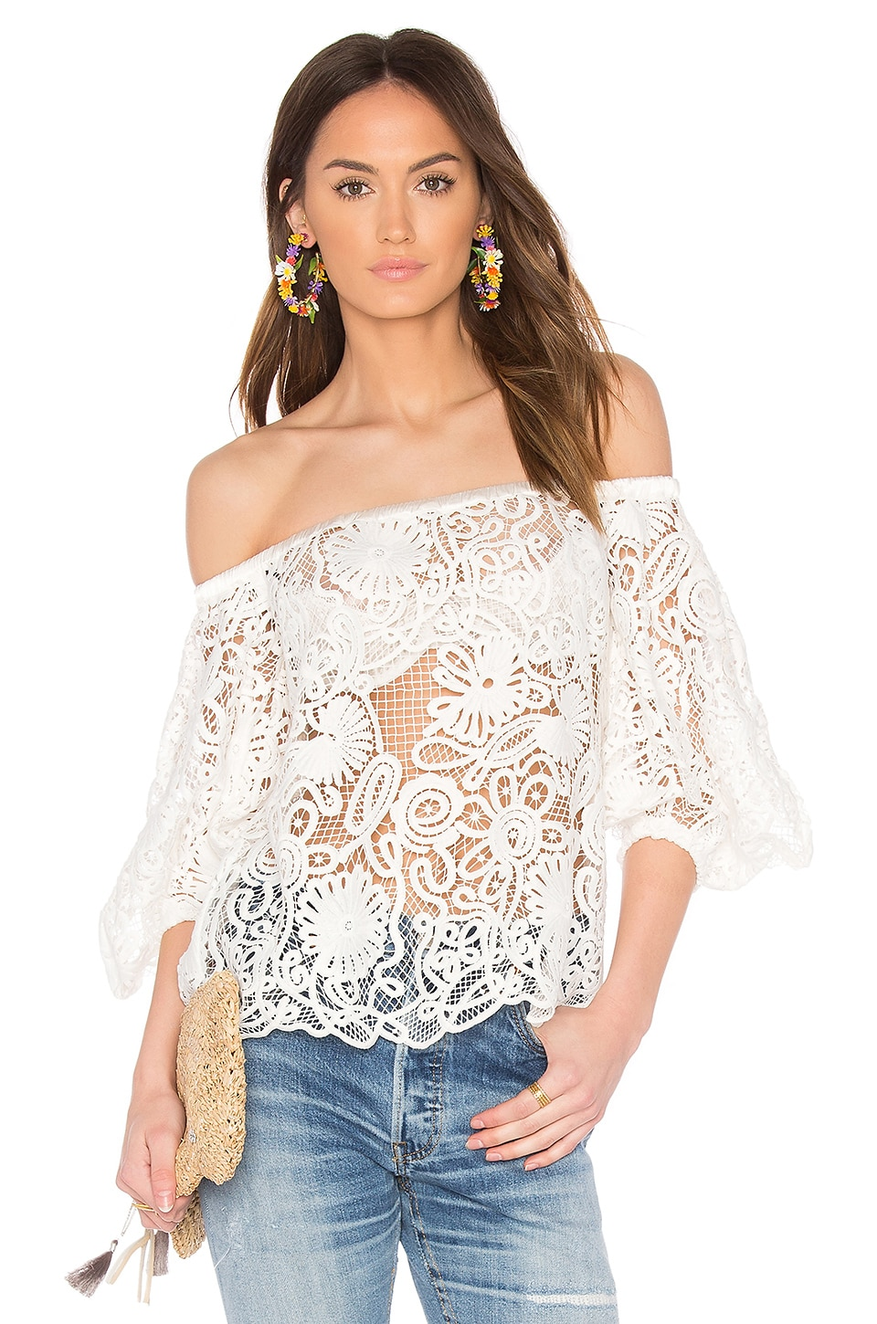 ELLIATT Serenity Off the Shoulder Top in Ivory