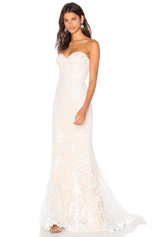 Elle Zeitoune Zeitoune Angelique Gown in White