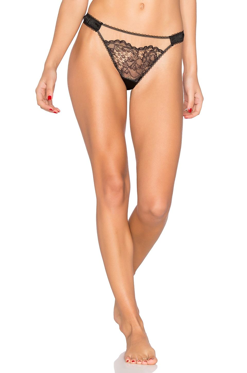 Yasmine Silk & Lace Thong by else