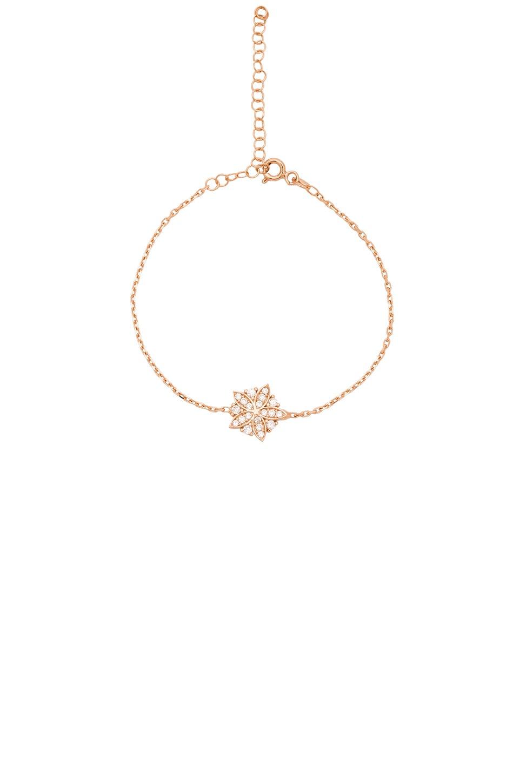 Ettika Luxe Flower Bracelet in Rose Gold