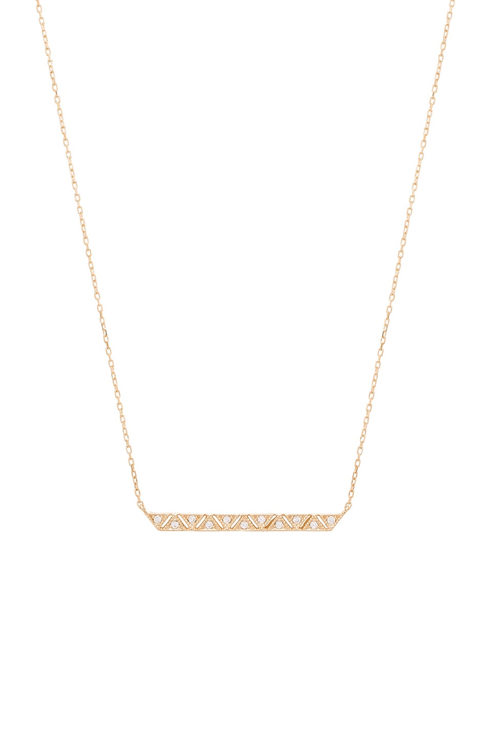 Ettika Luxe Geometric Bar Necklace in Gold
