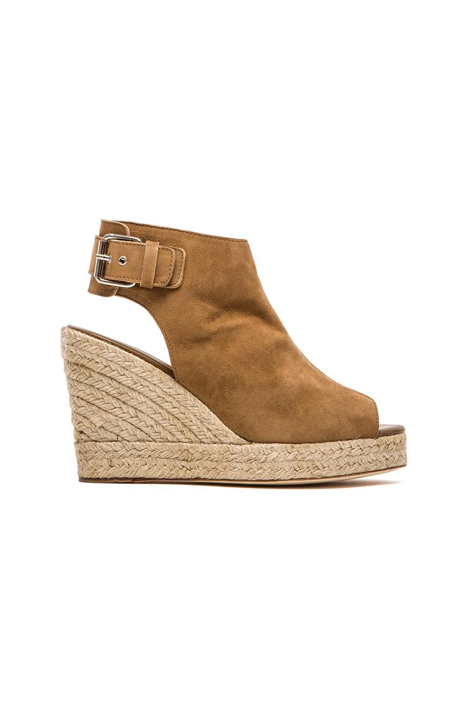 elysewalker los angeles Lesley Wedge in Tan Suede