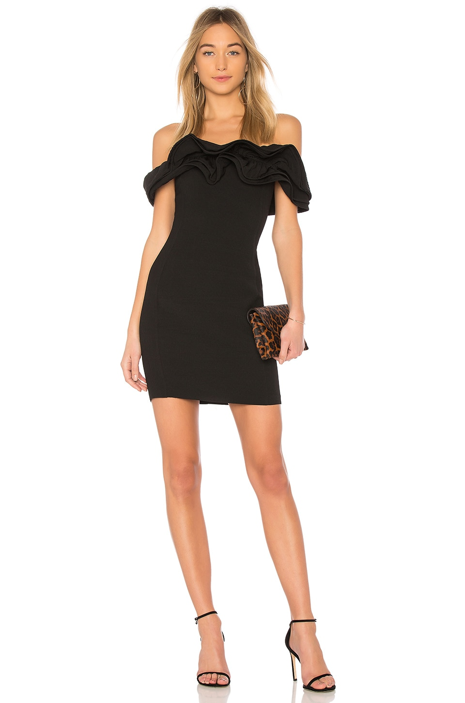 Endless Rose Off the Shoulder Dress in Black