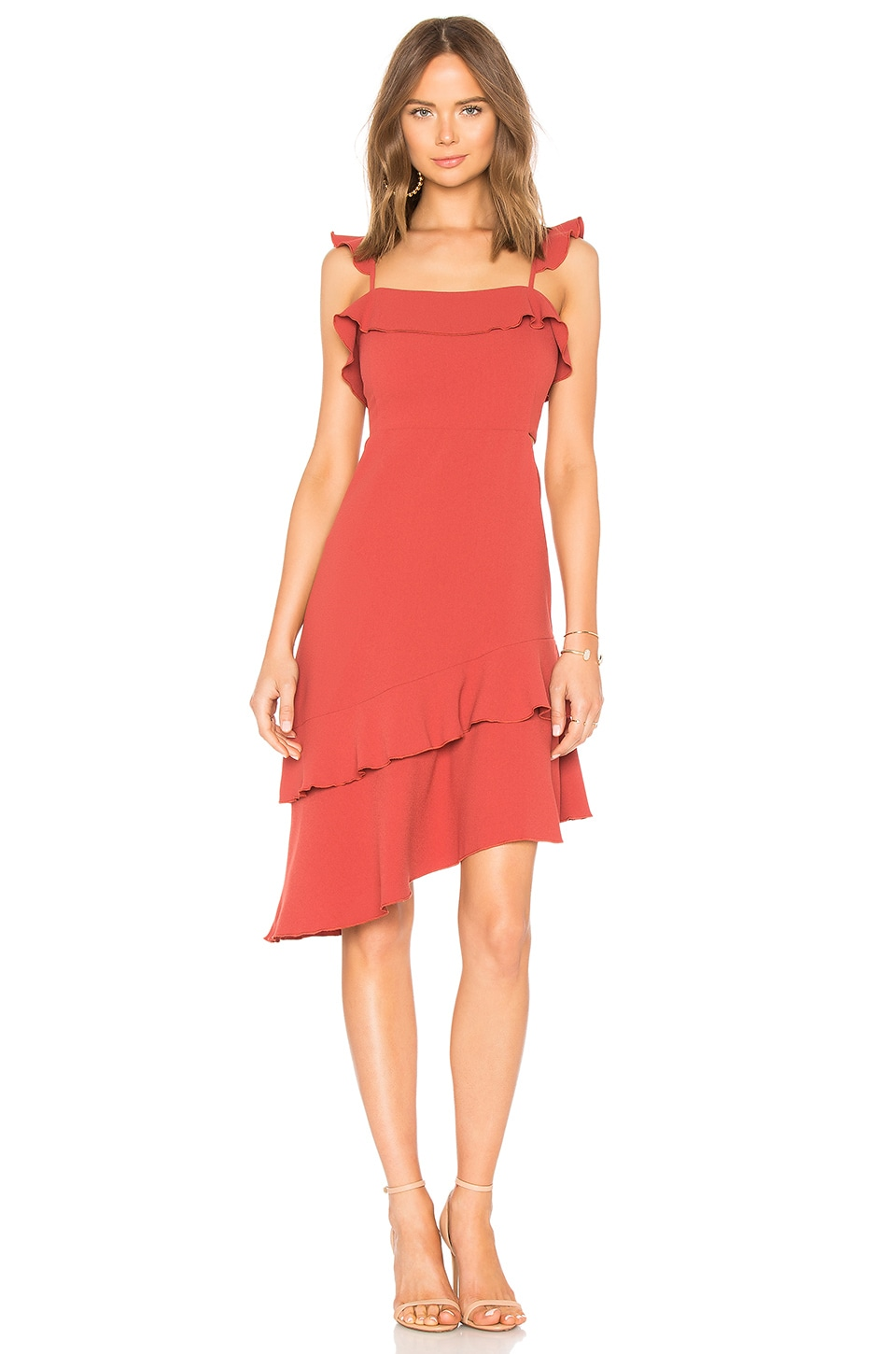 Endless Rose Asymmetrical Dress in Cranberry