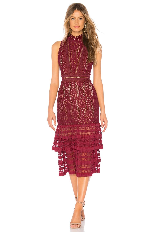 Plunge Back Midi Dress