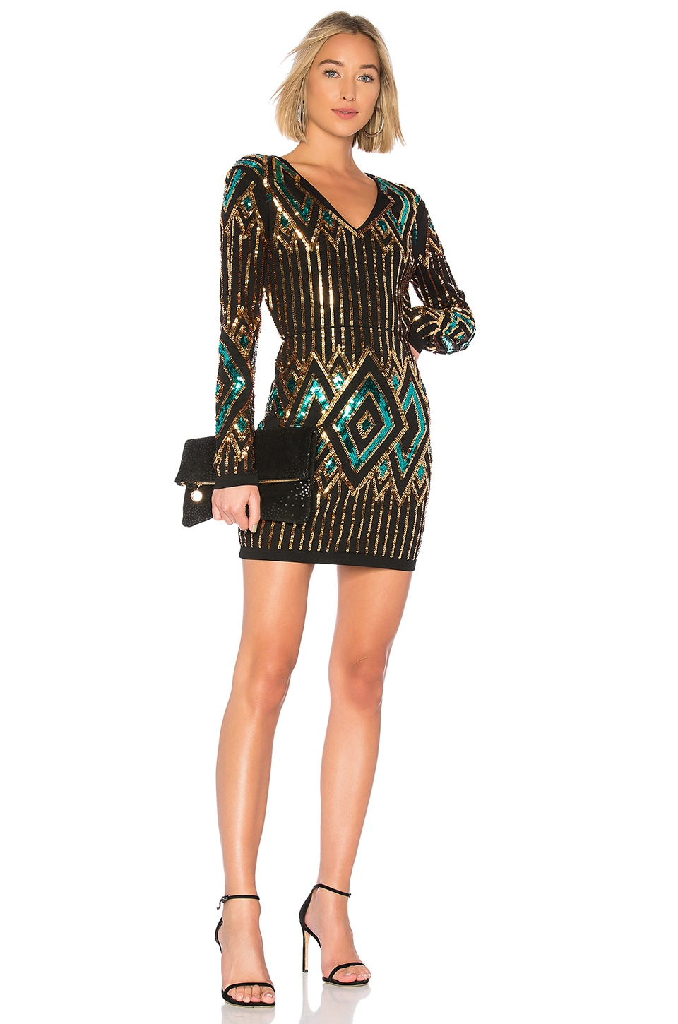 Endless Rose Sequin Bodycon Dress in Multi