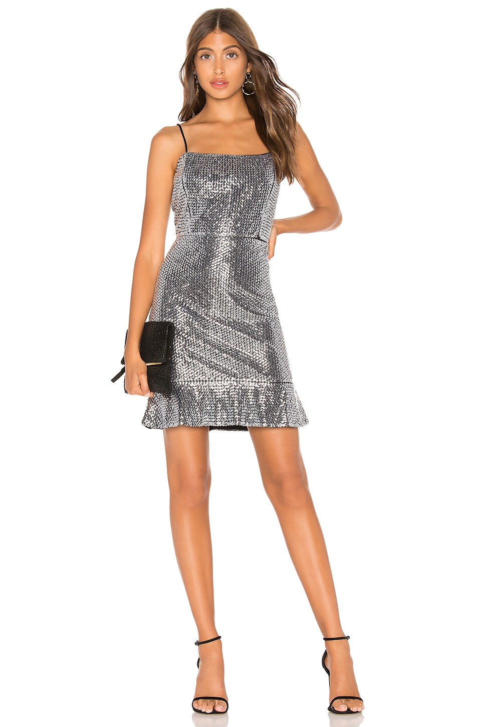 Endless Rose Sequin Mini Dress in Silver