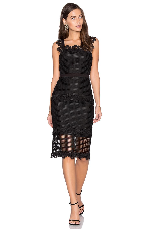Sleeveless Lace Detail Midi Dress by Endless Rose