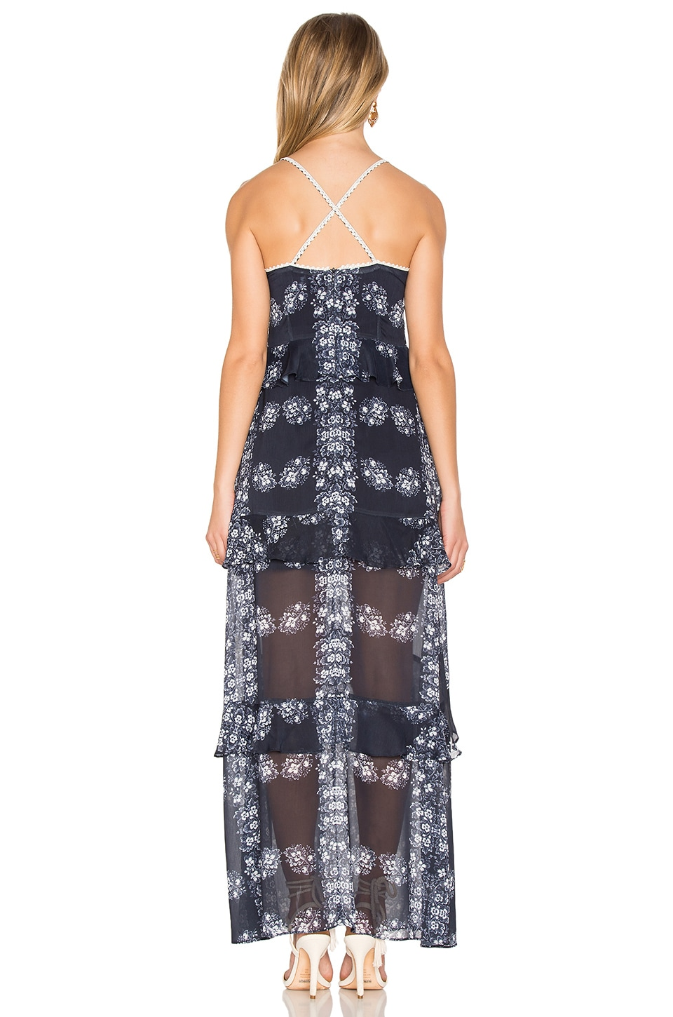 Endless Rose Flare Detail Dress In Hibiscus Print Modesens