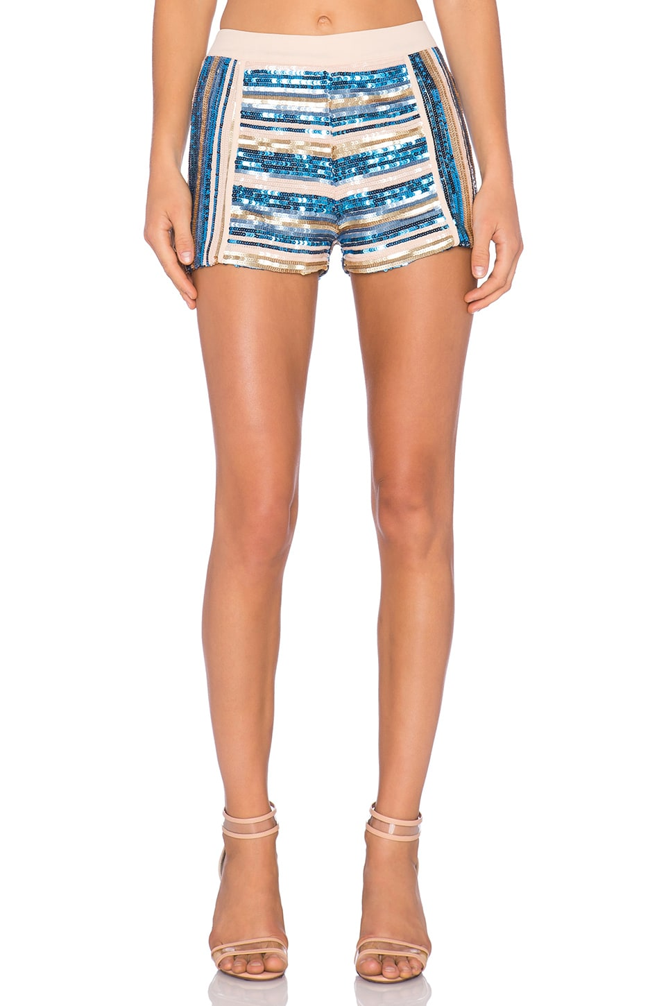 Endless Rose Sequin Short in Blue Combo