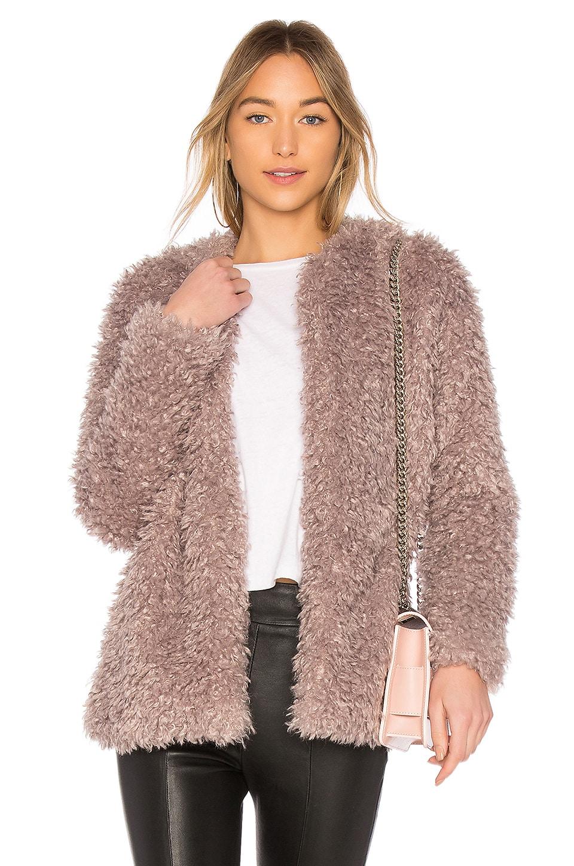 Endless Rose Faux Fur Jacket in Dusty Lavender