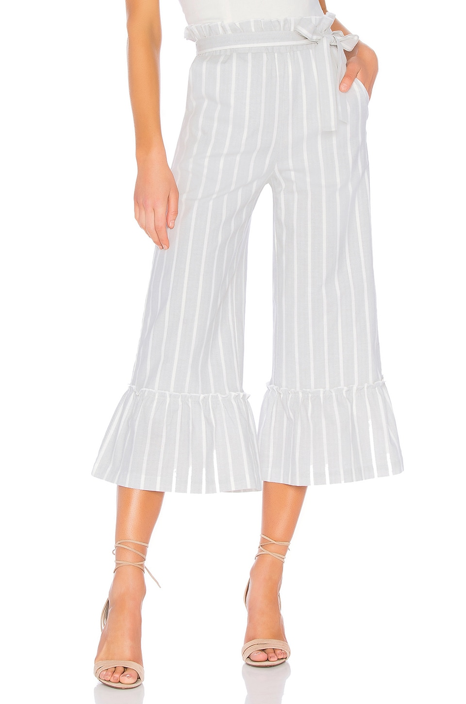 Endless Rose Ruffle Pants in Heather Grey