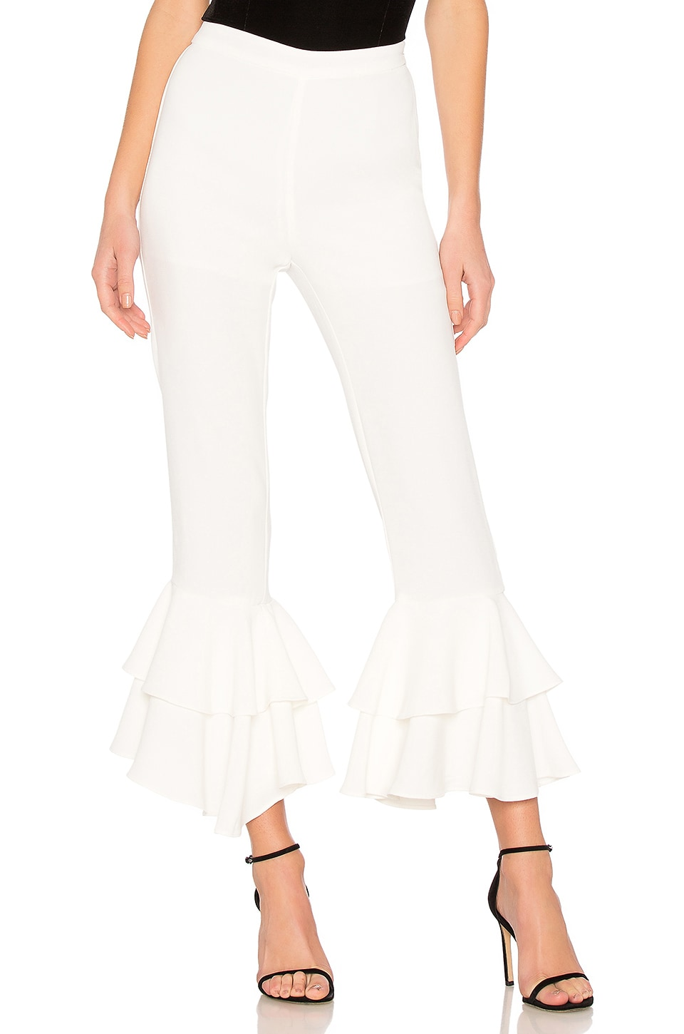 Ruffled Pants In Off White