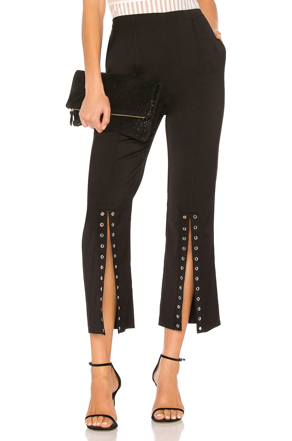 Endless Rose Flared Pants in Black