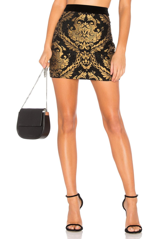 Endless Rose Brocade Mini Skirt in Brocade Print