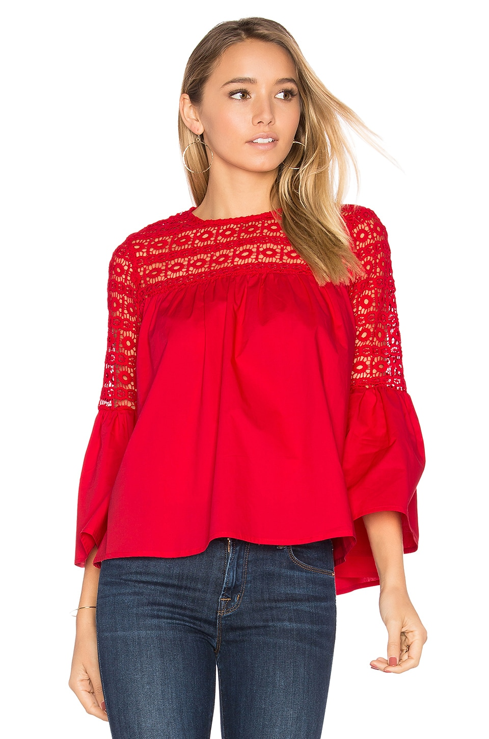 Endless Rose Louvre Top en Red