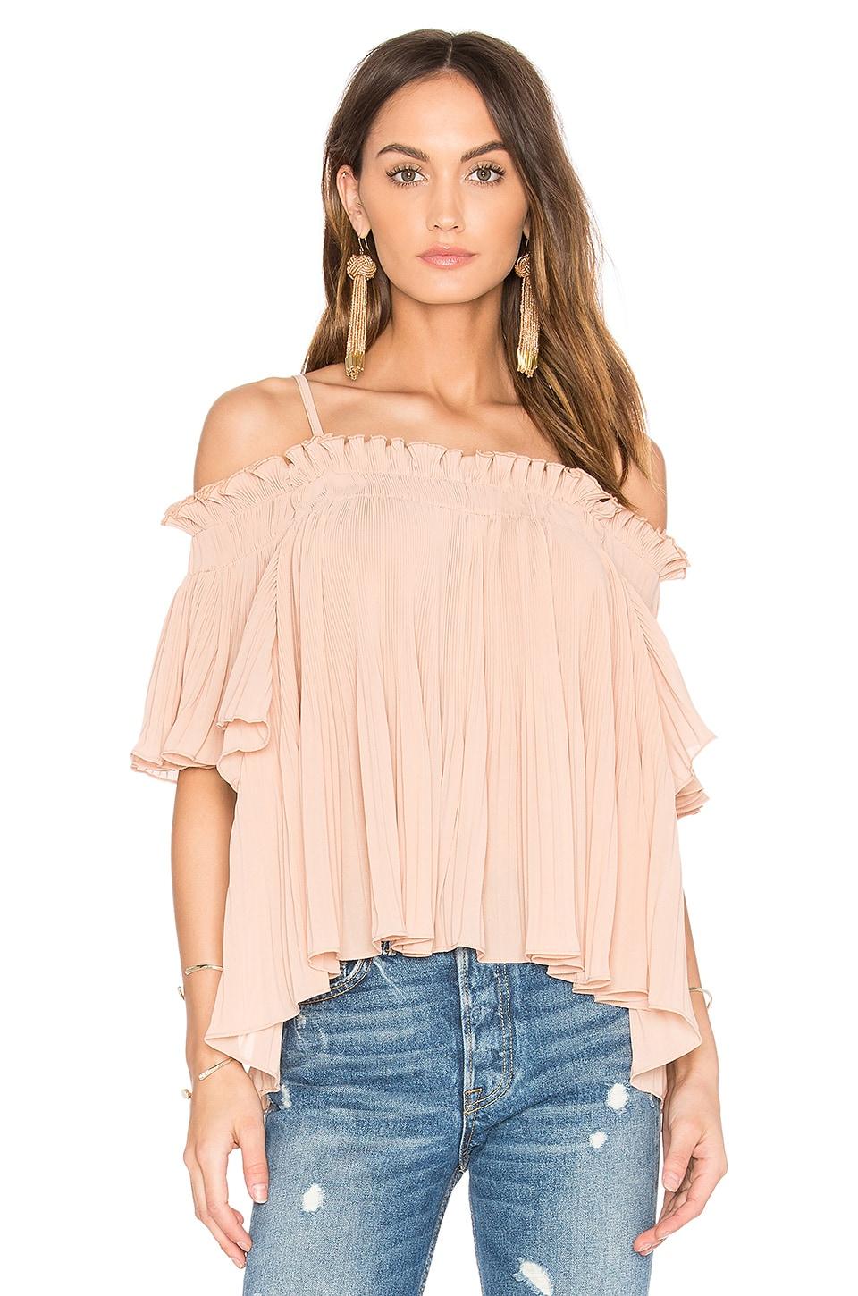 Endless Rose Off the Shoulder Top in Dusty Pink