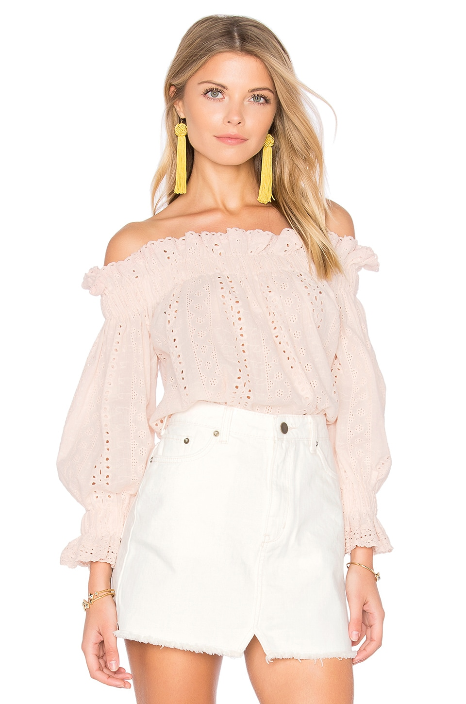Endless Rose x REVOLVE Off the Shoulder Top in Blush