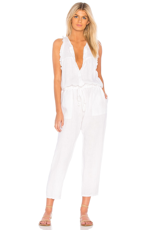 Enza Costa Easy Jumpsuit en White