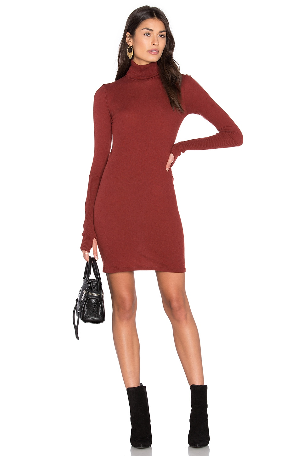 Cashmere Long Sleeve Turtleneck Dress by Enza Costa