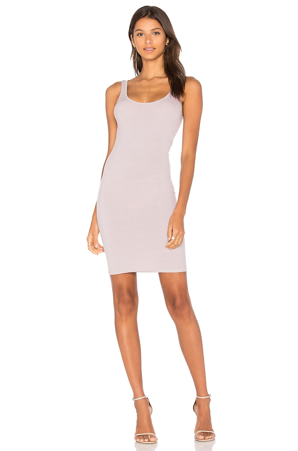 Enza Costa X REVOLVE Rib Tank Mini Dress in Beige Lilac