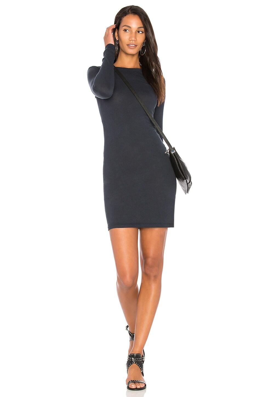 Long Sleeve Crewneck Mini Dress by Enza Costa